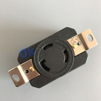 Nema L5-30r 30a 125v Twist Lock Locking Receptacle Device L5-30 Connector Female