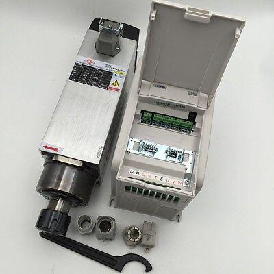 3.5kw Air Cooled Er25 Spindle Motor Ac380v4kw Vfd Inverter Kit Cnc Woodworking
