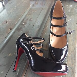 Christian Louboutin Lillian three-strap Mary Jane heels Clifton Hill Yarra Area Preview