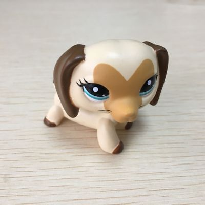 OOAK LPS Love face dachshund dog Hand Painted LITTLEST PET SHOP