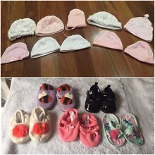 5 BABY GIRLS SHOES & 10 BEANIES Target Pumpkin Patch FREE POST Dingley Village Kingston Area Preview
