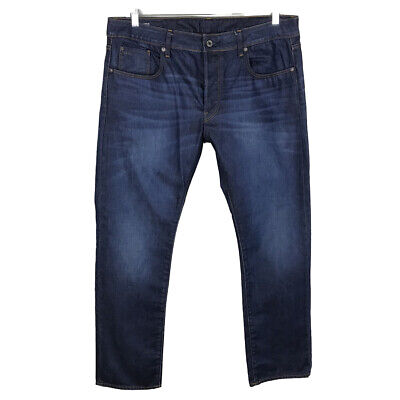 G STAR RAW Men's 3301 Medium Wash Jeans Size Tag 38x32 (Actual 38x31) Button Fly
