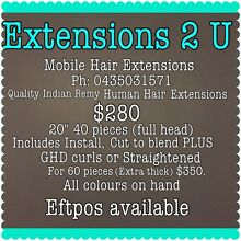 Mobile Hair Extensions - I come to you. Seaford Morphett Vale Area Preview