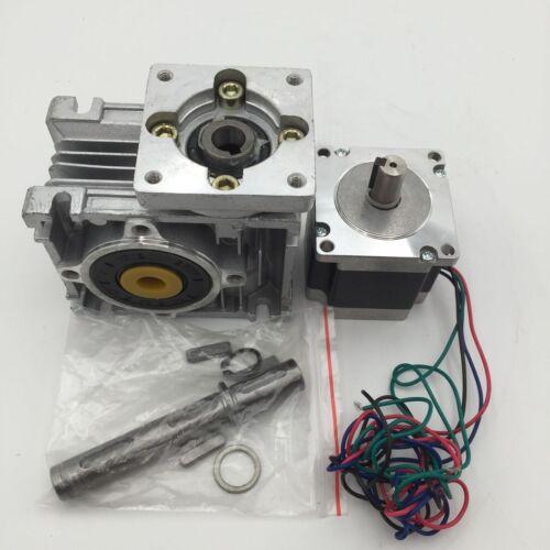 Nema23 Worm Gear Stepper Motor Ratio 7 5 1 3a L56mm