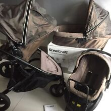 MINT STEELCRAFT Strider COMPACT Double Stroller & Capsule Bundall Gold Coast City Preview