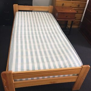 Wooden Single bed set available at bargain price at Joondalup store Joondalup Joondalup Area Preview