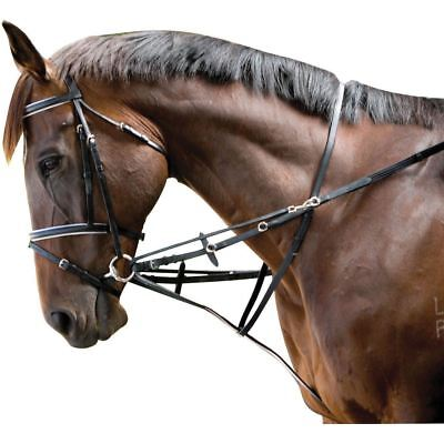 Kincade Web Market Harborough/German Martingale with Webbing Reins - Black, Full