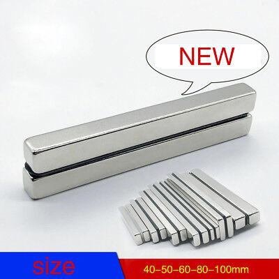 Neodymium Neo Permanent Block Bar Magnet Neo Magnets Mro Diy 40-50-60-80-100mm