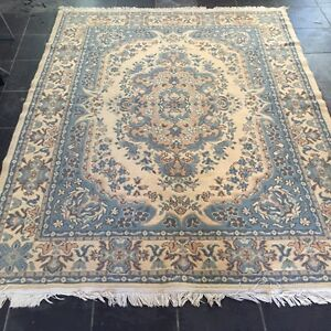 Blue and cream Persian pattern floor rug Leichhardt Leichhardt Area Preview