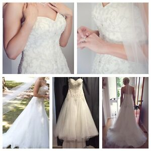 Wedding Dress / deb dress size 8-12 The Basin Knox Area Preview