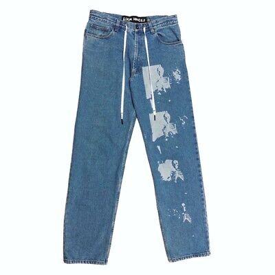 """Liam Hodges CANNOT BE DESCRIBED Blue Denim Jeans Size 32"""" Waist"""