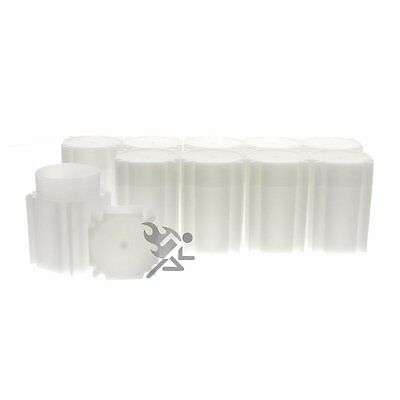 CoinSafe Silver Dollar Square Coin Storage Tube Holders for Peace Morgan Qty: 10