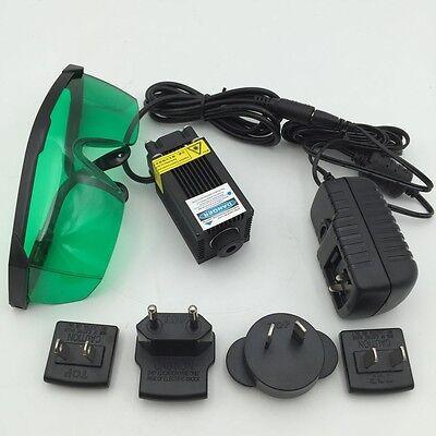 Adjustable 1w 1000mw Blue Engraving Laser Module 12v Focusable 450nm Laser Head