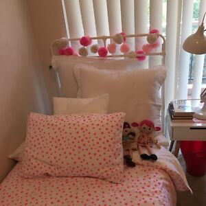 Kids Adairs mercy white single bed and new mattress Cammeray North Sydney Area Preview