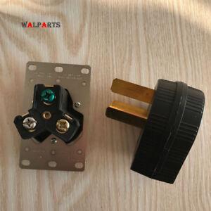 C50 amp 220 Volt 3 prong Plug & Female Receptacle Electrical RV Welder 2.95inch