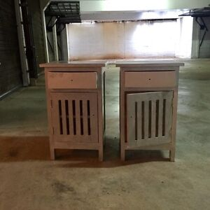 Pair of wooden bedside tables Mosman Mosman Area Preview