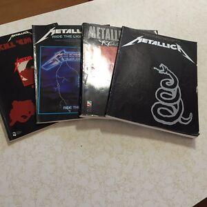 Four  Metallica guitar tab books Taree Greater Taree Area Preview