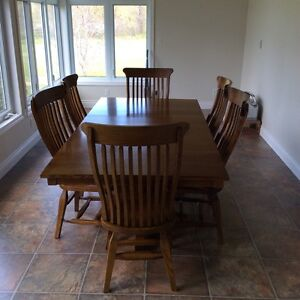 Mennonite table and chairs downsizing