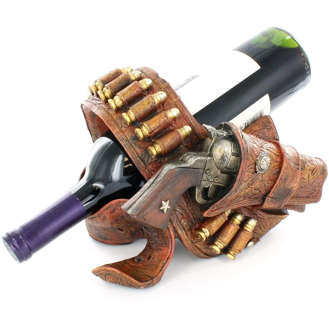 The 6 Best New Décor Brands We Ve Recently Discovered: Cowboy Pistol Belt Cartridge Bullets Ammo Wine Bottle