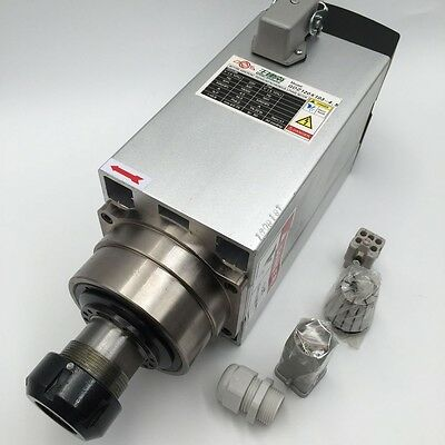Air Cooled 4.5kw Er32 Spindle Motor 220v 4bearing 18000rpm Cnc Router Milling