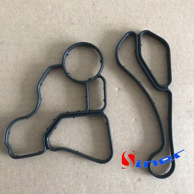 Engine Oil Filter & Cooler Housing Gasket Seal Kit For BMW E60 E90 E90 E91 325i Bmw Oil Filter Kit