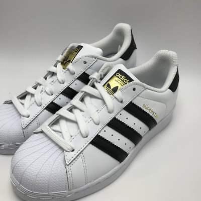 New Adidas Youth Originals Superstar J Gs C77154 White Black White