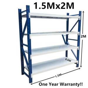 Metal Warehouse Racking Garage shelving 2m(H)x1.5m(L)x0.6