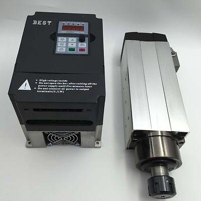 2.2kw Spindle Motor Air-cooled Er25 Vfd Inverter Variable Frequency Driver Cnc