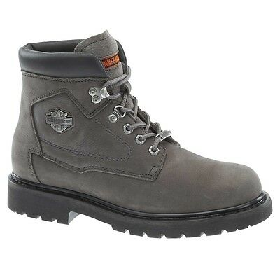Harley Davidson Men\'s Bayport Grey Lace-up Motorcycle Boots D93366 ...