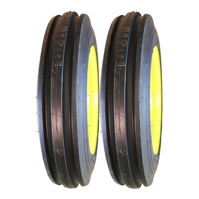 Two 4.00-12 John Deere Tractor Pulling Front Tires Wheels Rims Kit-m