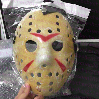 Old Jason Halloween Mask Funny Rare Voorhees Friday The 13th Hockey Scary Mask (Scary Hockey Mask)