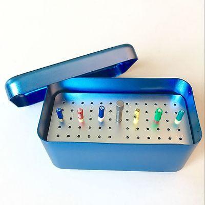 Dental Autoclavable 60 Holes Disinfection Box For Endo Files Aluminum Blue Color