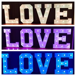 Giant light up LOVE letters- $300 special! Coolangatta Gold Coast South Preview