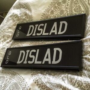 Personalised plates DISLAD Redlynch Cairns City Preview
