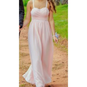 Light pink prom dress size extra small