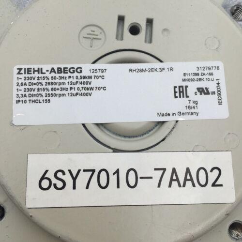 6sy7010 7aa02 Ziehl Abegg Fan For Siemens Inverter Rh28m