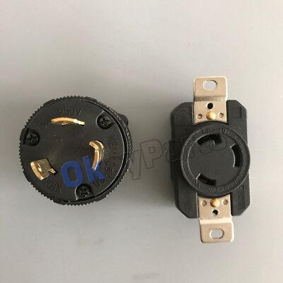 30 Amp 250 Volt Male Female Twist Lock 3 Wire Plug Nema L6-30p L6-30r Ul Approva