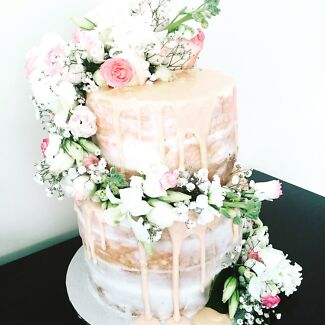 Melbourne Florist cakes cupcakes Brides to be christening Naked cakes