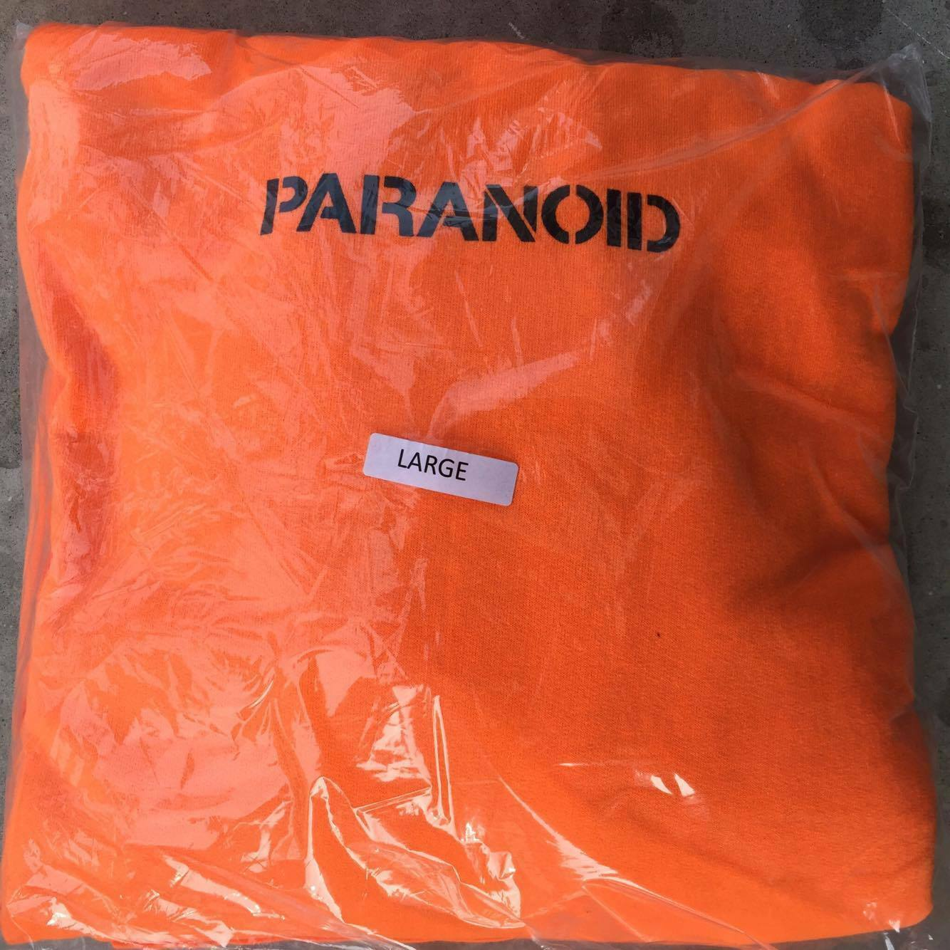 5f1f6086c839 100% Authentic Antisocial Social Club Paranoid Undefeated x ASSC Orange  Hoodie