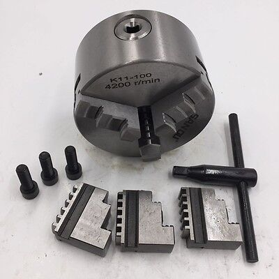 3jaw 4 Precision Lathe Chuck 100mm Self-centering 4inch Hardened Steel Cnc