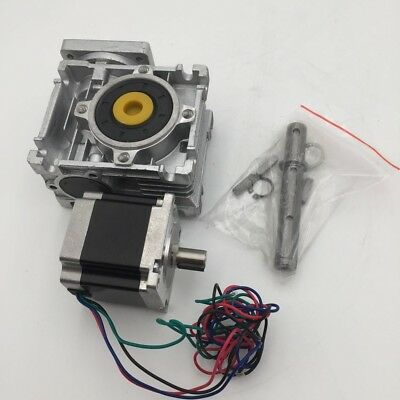 Nema23 Stepper Motor 1.1nm L56mm 3a Rv30 Worm Reducer Gearbox Cnc Router Kit