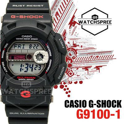 Casio G Shock Gulfman Dual Illuminator Series Watch G9100-1D for sale  Shipping to United States