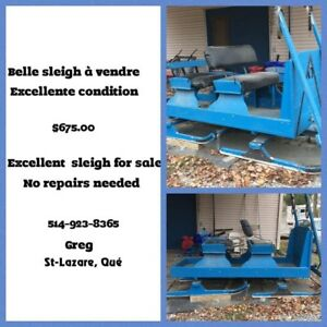Sleigh 4 places for sale