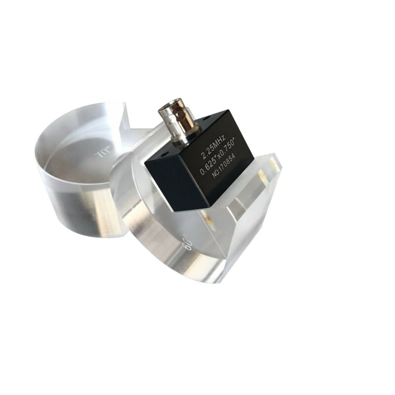 YUSHI AWS Ultrasonic Angle Beam Probe Tru-Sonic Transducer 2.25MHz .63 x .75 BNC