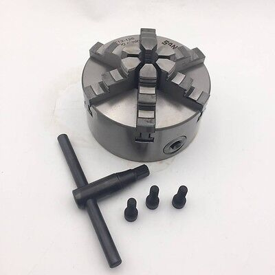 6jaw 125mm Lathe Chuck 5 Self-centering For Metal Lathe Tool Accessory Cnc