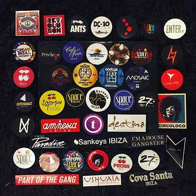 45 x Ibiza Club Stickers  - Amnesia Space DC10 Pacha Ushuaia Pacha Music On