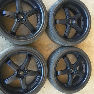 """20"""" matte black king rims and tyres. (Sports Wheels) Tamworth Tamworth City Preview"""