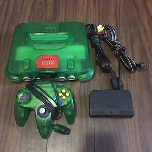 Jungle green n64 system with matching controller
