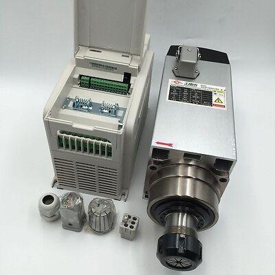 220v Spindle Motor Kit 4.5kw Er32 Collet 18000rpmvfd Inverter Driver Cnc Router