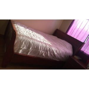 Awesome deal on this beautiful queen size sleigh bed frame!